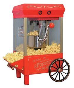 Nostalgia Electrics Kettle Hot Machine Vintage Popcorn Popper Maker Air Red
