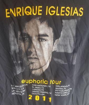 Pitbull Enrique Iglesias Euphoria Tour 2011 Black Tee Shirt Adult Large Used