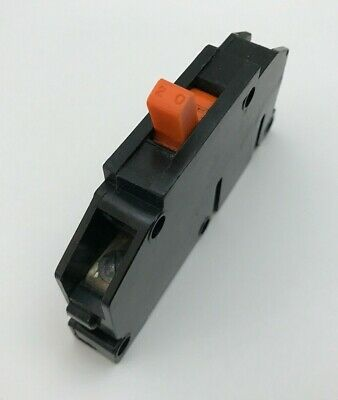 Zinsco Magnetrip 20 Amp 1 Pole Circuit Breaker 20 A 1p Type T Single T120 Orange