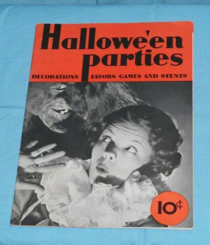 vintage 1935 Halloween HALLOWE
