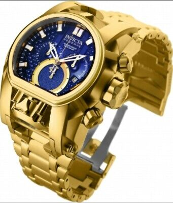 Invicta Reserve Bolt Zeus Magnum 2 Swiss Movements 18k Gold Plated Watch