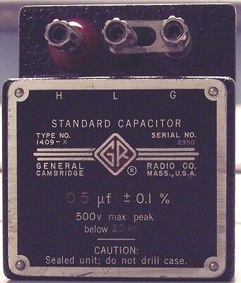 General Radio Gr 1409x 1409-x 0.5 Ufd Standard Capacitor
