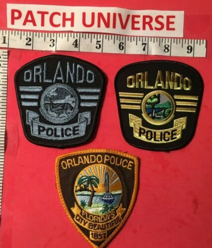 LOT OF 3 DIFFERENT ORLANDO FLORIDA POLICE  SHOULDER PATCHES S048