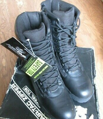 Ridge Footwear 8006ST Men's Air-Tac Black Zipper Steel Toe Tactical Boots 13 NIB Mens Air Tac Ridge
