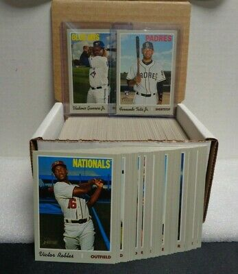2019 Topps Heritage High Number Complete Base Set w/SP's 501-725
