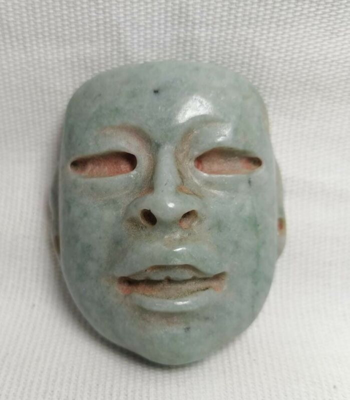 Pre-Columbian Olmec Jade mask from Mexico. 400 bc.