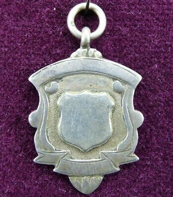 1933 Antique Pocket Watch Fob Solid Sterling Silver 6.2g J.F. Blank