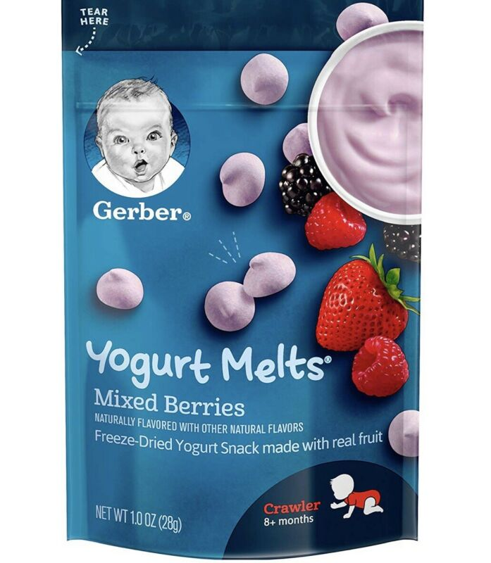 Gerber Yogurt Melts Case Of 7 Mixed Berry Pouches