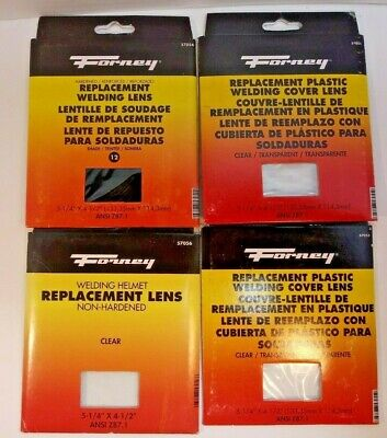 Forney Lot Of 4 Welding Lenss.157059 Tinted157054 Clear257055 Clr Plast