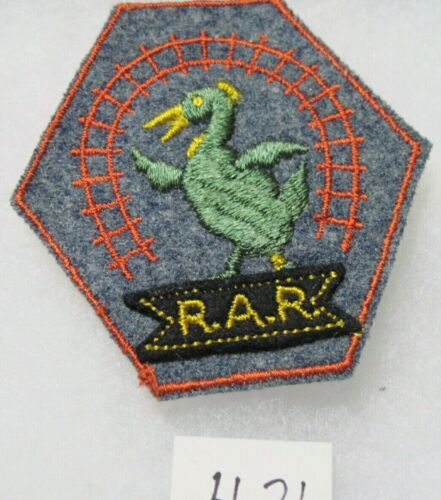 US ARMY WW1 RAILWAY ARTILLERY RESERVE PATCH on GRAY Wool 1940s Patch King Made