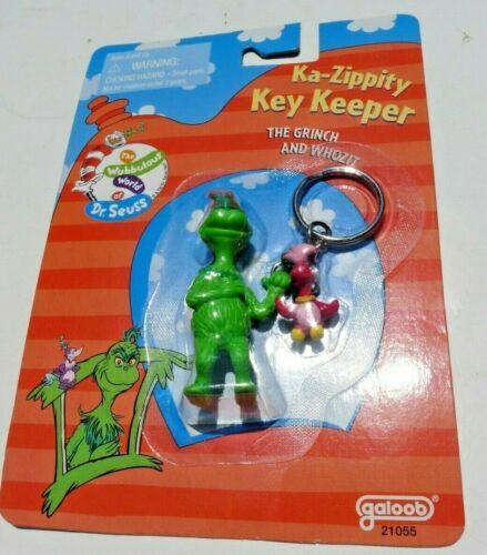 Dr. Seuss The Grinch & Whozit Key chain ring NIP 1997 Galoob