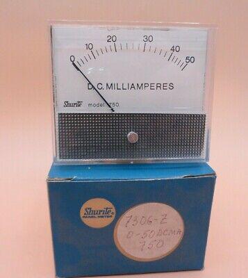 Analog 0 - 50 Ma Dc Shurite Panel Meter