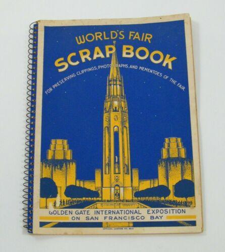 1939 GOLDEN GATE INTERNATIONAL EXPOSITION WORLDS FAIR SCRAP BOOK SAN FRAN UNUSED