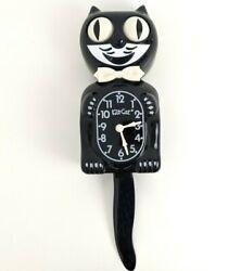Kit-Cat B2 Classic Clock Size Large 15 Black - Cat Wall Clock w/ Swinging Tail