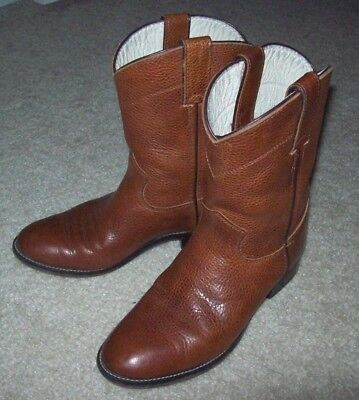 Boy/Girl Youth Western JUSTIN Brown Cowboy Roper BOOTS Size 2-1/2 D 2.5 D #3420Y