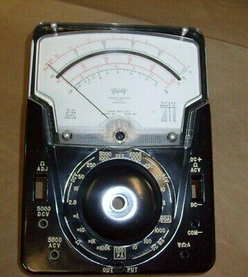 Rare Triplett 630-apl Multimeter Meter Bakelite Case Front Panel Nos