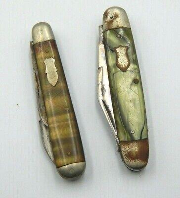 3 BLADE Utica Cutlery Company Utica N.Y & John Pritzlaff H Co. Pocket Knifes