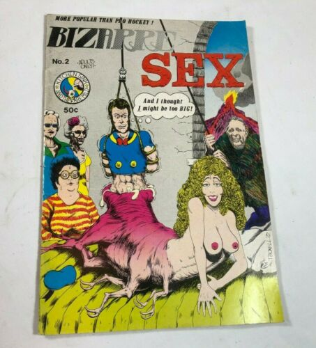 Bizarre Sex # 2 1st Print Kitchen Sink November 1972 Comic Comix