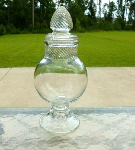 """Antique  11"""" Drug Store Apothecary Candy Jar"""