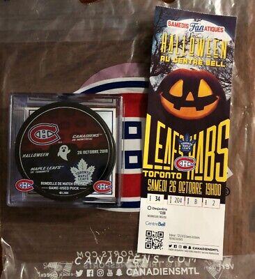 Halloween 2019 Toronto (2019/20 Toronto Maple Leafs VS Montreal Canadiens Warmup Puck ( Halloween)