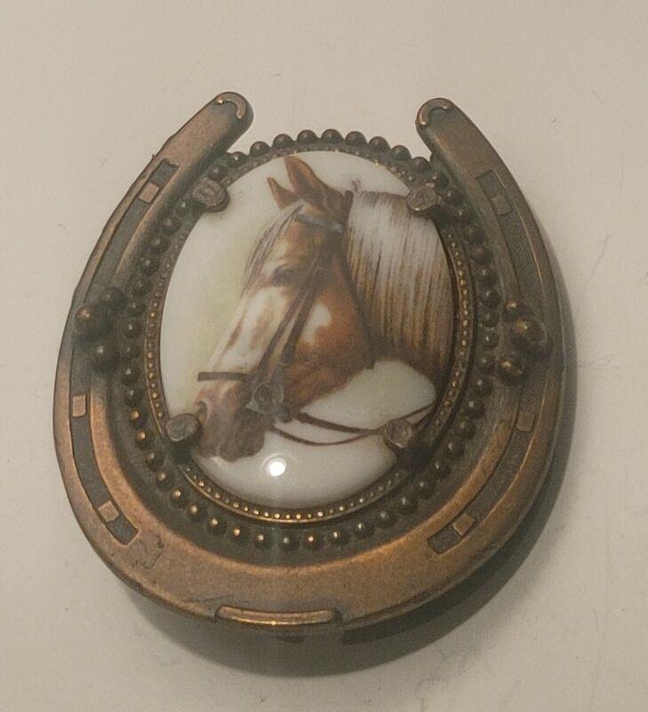 Vintage Western Horse Shoe Belt Buckle