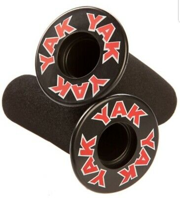 Set Rubber Foam Flanged Handlebar Grips bicycle scooter bike pad bmx pair black  ()