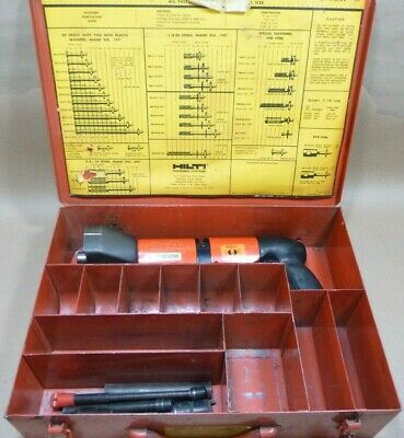 Hilti Dx 600n Heavy Duty Powder Actuated Nail Stun Gun Kit W Case