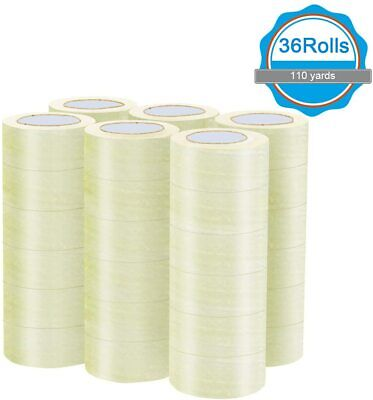 36 Rolls Clear 2 Wide 110 Yards Length Heavy Duty Transparent Packing Tape