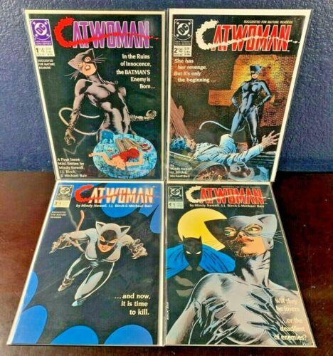 Complete 1989 Series CATWOMAN 1 2 3 4 DC Comic Lot Batman 1-4 Mini-Series Set