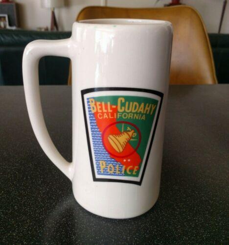 Vintage BELL CUDAHY CALIFORNIA POLICE DEPARTMENT BEER STEIN COFFEE MUG NICE!!