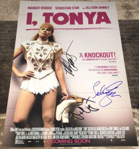 I TONYA CAST SIGNED 12x18 PHOTO POSTER MARGOT ROBBIE JANNEY & STAN w/EXACT PROOF