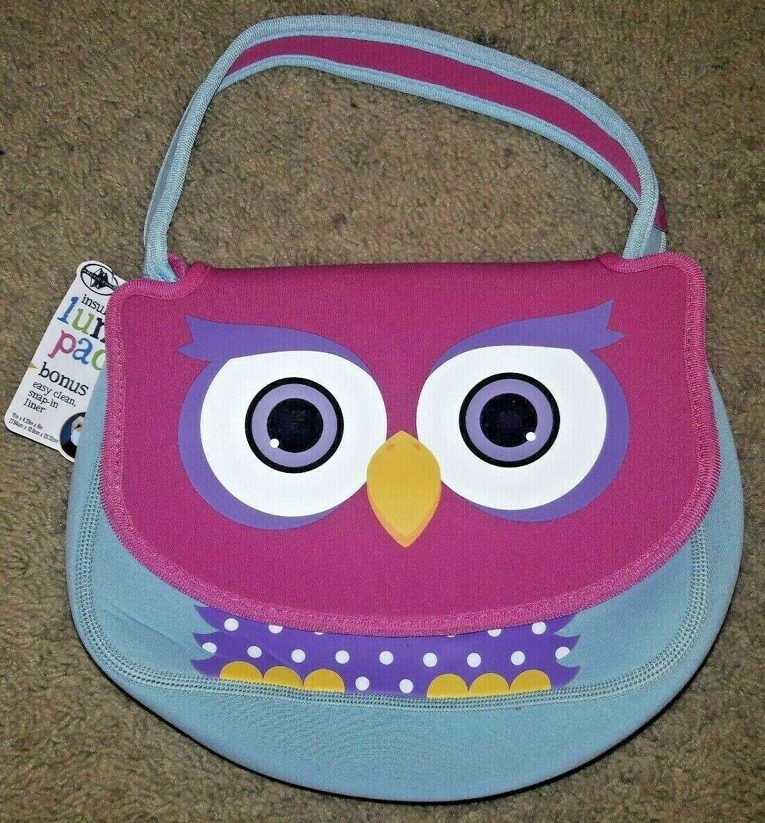 🥘🍕 Arctic Zone OWL Insulated Lunch Box Pack Neoprene N