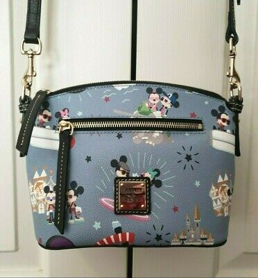 Disney Dooney & Bourke Mickey Minnie Hipster Attractions blue bag purse Dumbo