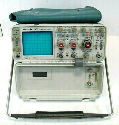 Tektronix 2336 100 Mhz - 2 Channel Oscilloscope Good Working