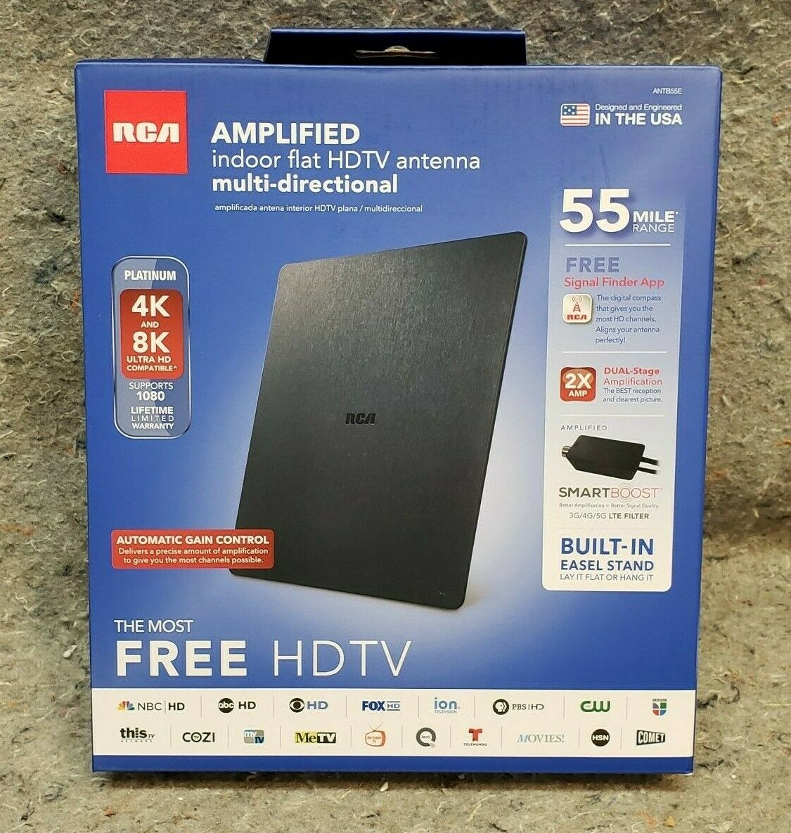 RCA ANTB55E Multi-Directional, Flat Digital Indoor HDTV Ante