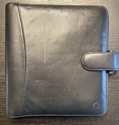 Franklin Covey Binder Classic .5 Ring Black Leather