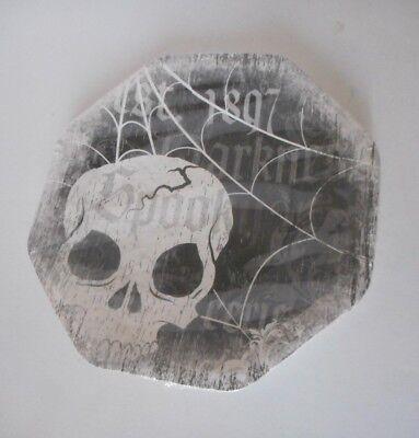 Spooky Halloween  paper Desert plates 8 ct  skull - Skull Paper Plates