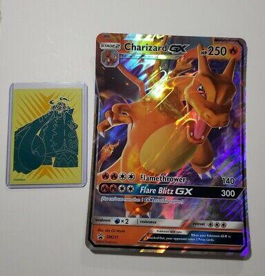 Pokemon Jumbo Oversized Charizard GX SM211 Rare Promo Card - Hidden Fates NM/M