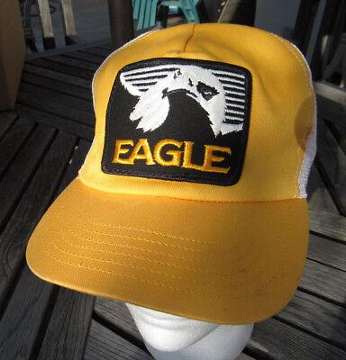 Vintage Eagle Electronics Yellow & White Mesh Fishing Hat Cap Snap Back NWOT - Eagle Electronics