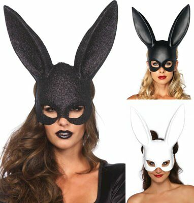 LAG Leg Avenue Hasen Maske Bunny mit langen Ohren Hase Kostüm Maske Karneval