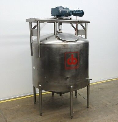 Cherry Burrell 1500 Gal Stainless Steel Mixing Tank W Top Mounted Agitator