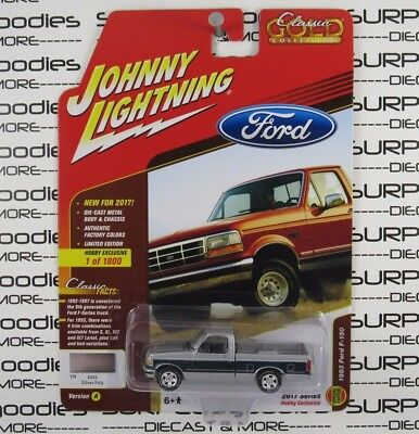 Johnny Lightning 1 64 2017 Hobby Exclusive 1993 Ford F 150 Pickup Truck Ver A