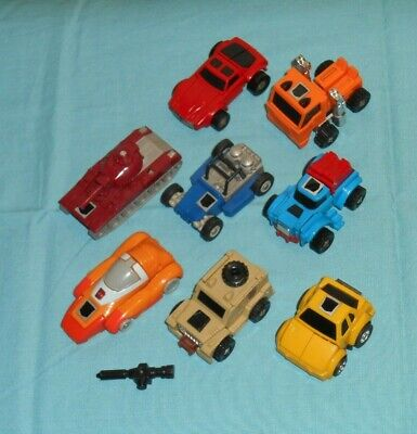 original G1 Transformers minibot lot x8 Wheelie Hubcap Huffer Outback Warpath ++