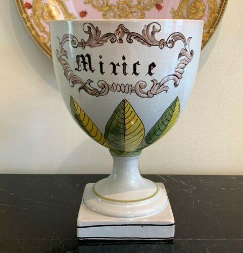 Fabulous Antique Italian Majolica Apothecary Jar