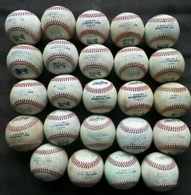 Official MiLB Minor League used baseballs Rawlings all leather 20