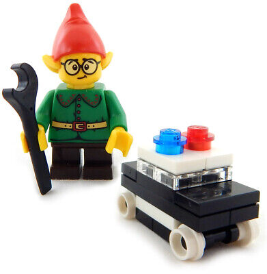 NEW LEGO CHRISTMAS ELF with POLICE CAR minifigure santa claus minifig cop figure