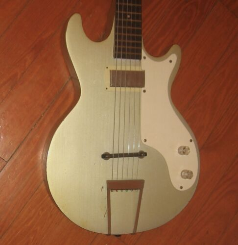"1956 ""Marvel"" Multivox Electric Guitar w/ Original Case. Very Early Solidbody."