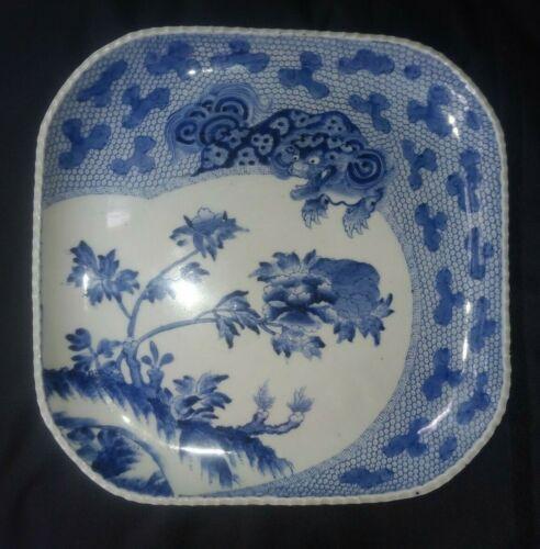 Antique Japanese Arita Blue & White Porcelain Charger-MARK