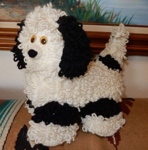 CROCHET HANDMADE  PLUSH STUFFED  DOG  CURLY COAT  EXCELLENT POODLE  or PWD