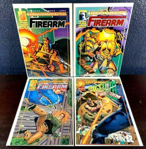Ultraverse FIREARM 1 2 3 4 (1-4 Complete Series Set) Near Mint NM+ Malibu Comics